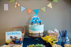 Little Blue Truck Birthday Bash | CatchMyParty.com