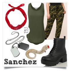Aliens: Sanchez by curvygeekyfangirl on Polyvore featuring polyvore fashion style clothing