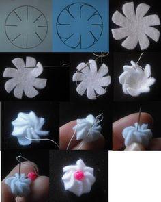 Le creazioni di Minù: Tutorial meringhe di feltro o pannolenci