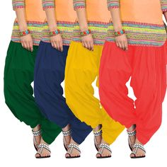 SET OF 4 COTTON PATIALA SALWAR