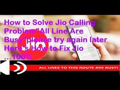 How to Fix Jio Calling Problem | Solve Jio Line Busy Calling Problem All...