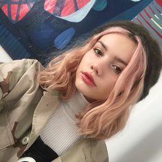 - ̗̀ saith my he A rt ̖́- Dye My Hair, New Hair, Hair Inspo, Hair Inspiration, Couleur Rose Pastel, Pretty Hairstyles, Pretty People, Hair Goals, Makeup Looks