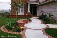 Front Entry Walkway, Stamped Concrete & Brick