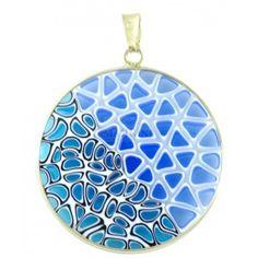 Authentic millefiori murrina pendant. Murano glass jewelry. Murrina Millefiori
