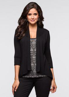 2in1-shirt zwart/ecru - BODYFLIRT nu in de onlineshop van bonprix-fl.be vanaf…