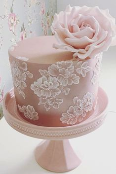 Wedding Cake Design Ideas Luxury Best 25 Brush Embroidery Cake Ideas On Pinterest