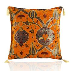 Gulfem Chenille Cushion Cover, Orange