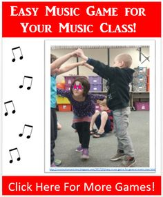 Fun Music Lesson, Music Game for Spring time for Elementary Music Teachers.http://mrsstuckismusicclass.blogspot.com/2017/03/easy-music-game-for-general-music-class.html