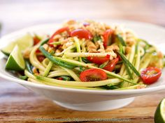 Thai-Style Zucchini Salad (1/2) by Bitter-Sweet-, via Flickr