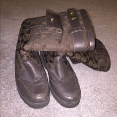 Winter coach boots! Well loved! These coach winter boots are comfortable and super warm. Well loved but still have lots of life left to them. Offers are welcome! Coach Shoes