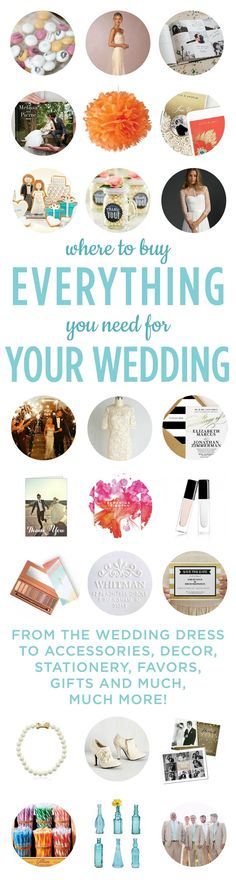 Looking for an item for your wedding? Check out our list of favorite wedding resources to help you plan a wedding on a budget! (Plus exclusive discounts!) #savemoney #budgetwedding #weddingonabudget