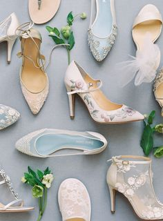 Wedding Shoes New 2017 Designer Bridal Shoe Collections The new enchanted collection from Bella Belle brings the prettiest bridal flats you will ever find romantic heels and even a lace bootie Belle Bridal, Bridal Style, 2017 Bridal, Enchanted Bridal, Enchanted Garden, Bridal Flats, Bridal Footwear, Bridal Jewelry, Lace Booties