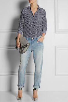 Equipment|Signature polka-dot washed-silk shirt|NET-A-PORTER.COM