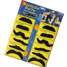 Self Adhesive Set 12 Fake Mustaches $0.49 Shipped! - http://couponingforfreebies.com/self-adhesive-set-12-fake-mustaches-0-49-shipped/