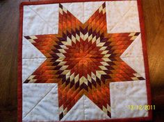 Miniture Quilt Lone Star by QuiltAples on Etsy, $55.00-Gorgeous!