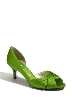 Nina 'Culver' d'Orsay Pump   Nordstrom, comes in apply green (shown), black, canary yellow, fuchsia, gold, grape, ivory, new navy, powder sand, red rouge, royal silver and steel