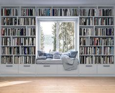 Home Library Rooms, Home Library Design, Home Libraries, Home Office Design, Design Your Own Home, Dream Home Design, My Dream Home, Custom Bookshelves, Bookshelf Wall