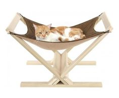 Woodworking!  I have needlepoint canvases with no home - this looks great!  cat hammock, modern cat furniture