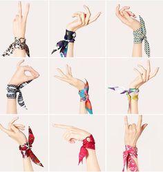 Lollipop of designer silk bracelets @ www.SilkPhilosophy.com