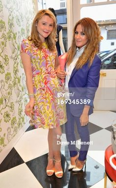 News Photo: Amber Atherton and Caroline Flack attend the Kate…