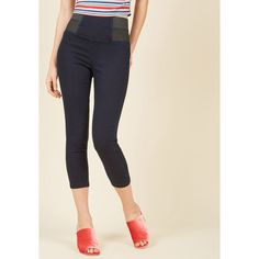 06ad3a934c5fb4 Womens - Make an unforgettably chic entrance in these dashing jeans!  Flaunting a high-rise, elasticized waist and a classic dark wash, these  cropped ...