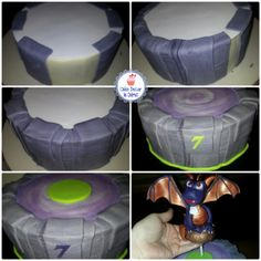 Spyro Skylander Portal Cake - creating a Portal effect around a round cake using fondant.