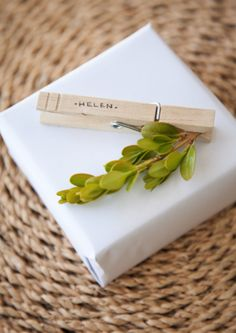 boxwood clippings_clothes pegs gift