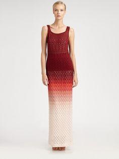 Missoni Ombré Lurex Skirt in Red