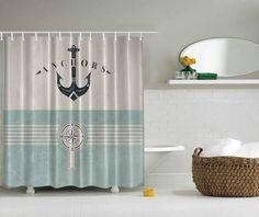 Nautical Ocean Lover Anchor Sea Beach Fabric Shower Curtain Digital Art  Bathroom In Home U0026 Garden, Bath, Shower Curtains