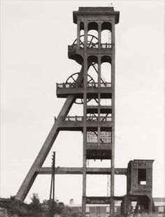 "Bernd and Hilla Becher, Bernd Becher, Hilla Becher, Förderturm, 1920, Fosse ""Dutemple,"" Valenciennes, Nordfrankreich (Winding tower, 1920, Fosse ""Dutemple, "" Valenciennes, North France), from the portfolio Industriebauten (Industrial Buildings)  , San Francisco Museum of Modern Art, 1967"