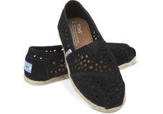 Black Moroccan Cutout Women's Classics | TOMS    #shoes #toms