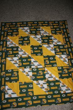 Shop | Category: Quilts | Product: Sports Team Quilts Any Size, Any Team, Custom made for you - Crib listing