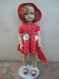 """1940's 20"""" Arranbee Nancy Lee R B Doll All Original Composition with Hang Tags 