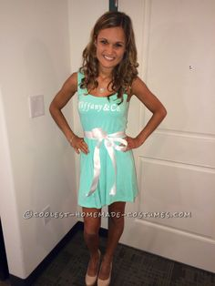 Cutest Tiffany & Co. Gift Wrapped Box (and Body) Costume… Coolest Halloween Costume Contest