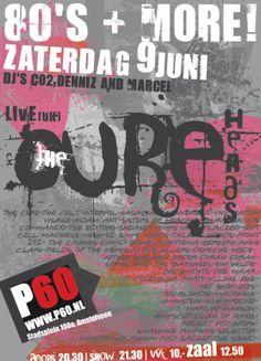 Poster Cureheads, P60/Amstelveen.