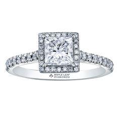 Canadian Square Princess Cut Diamond with a Diamond Halo and Diamond Pave Shank Eternity Ring Diamond, Halo Diamond, Diamond Engagement Rings, Canadian Diamonds, Princess Cut Diamonds, Shank, Wedding Ideas, Beautiful, Future