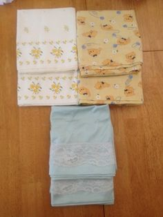 VTG Pillow Cases Lot of 6 Satin Cotton Kitten Floral Country 3 Pair Standard