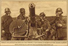 """WW1. """"German anti-aircraft machine gun, that throws a vast number of… WW1. """"Allemande machine à canon anti-aérien, qui jette un grand nombre de ..."""