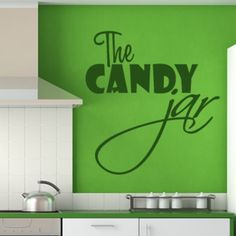 The Candy Jar Kitchen Wall Sticker. http://walliv.com/the-candy-jar-kitchen-wall-sticker-decal-2324