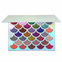 Mermaid Scale Eyeshadow Palette - 32 Colored Waterproof Makeup