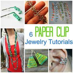 6 Paper Clip Jewelry Tutorials