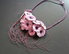 Necklace   Begona Rentero.  Handmade paper from silk, cotton and other fibers