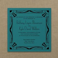 All That Jazz - Imperial Invitation - Marina | Free Spirit Invitations