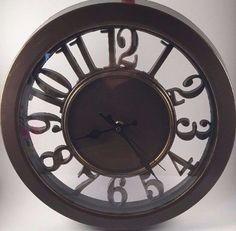 "Brown 12"" Round WALL CLOCK  #Sharp"