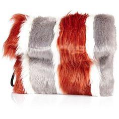 Pre-owned Prada White Faux Fur Clutch Bag (\u20ac350) ? liked on ...