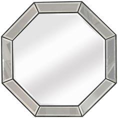 Bassett Mirror Beaded Octagon Wall Mirror M3450BEC