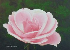 How to Paint a Rose in Acrylic