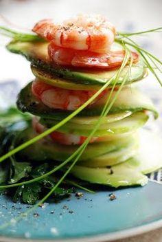 Apple Shrimp Stack by doriann.blogspot.fr #Appetizer #Shrimp #Apple