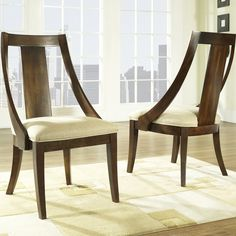 Have to have it. Somerton Dwelling Manhattan Dining Slipper Side Chairs - Set of 2 - $367.98 @hayneedle.com