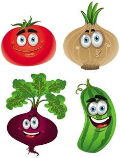 Funny Cartoon Fruits And Vegetables Vegetable Drawing, Vegetable Cartoon, Funny Vegetables, Fruits And Vegetables, Cartoon Vegetables, Eating Vegetables, Veggies, Fruit Cartoon, Cute Cartoon